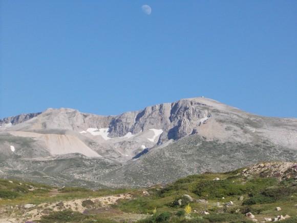 Az Uludag hegy havas oldala
