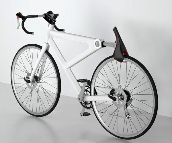 Nyeregbe integrált kerékpár lakat