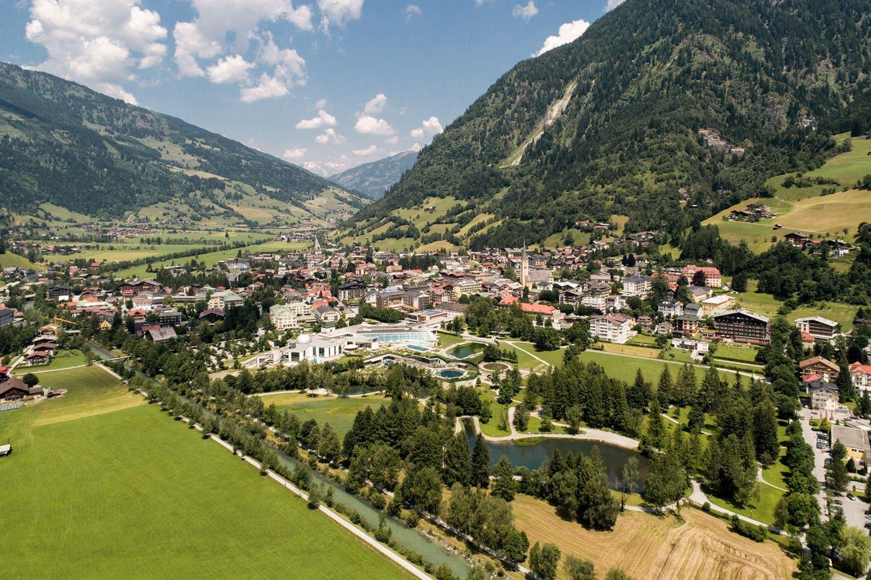 Bad Hofgastein madártávlatból Forrás: (c) Gasteinertal Tourismus GmbH, Ausweger