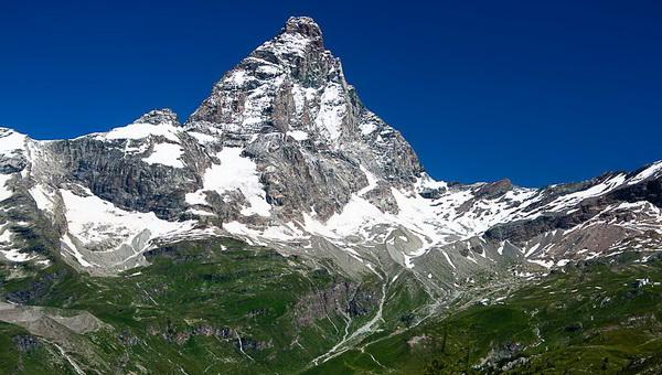 A Cervino/Matterhorn 2013 nyarán Forrás: Mozgásvilág/Pintér László