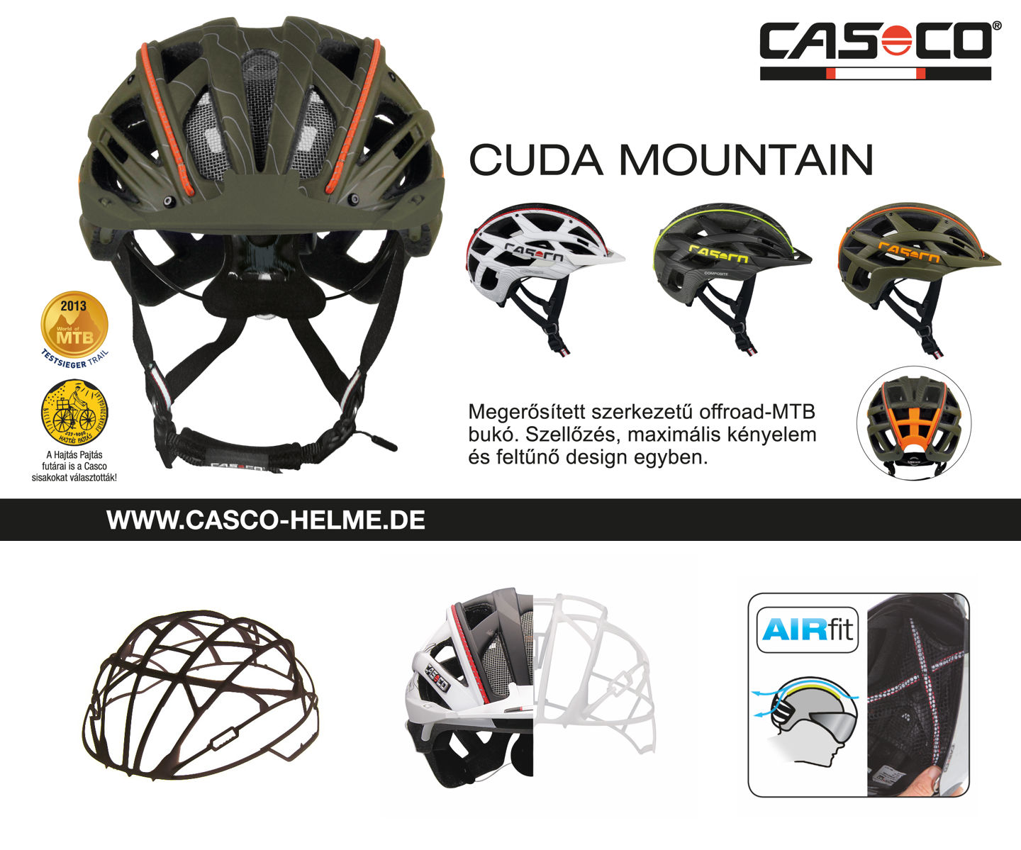 Casco Cuda Mountain Forrás: Casco
