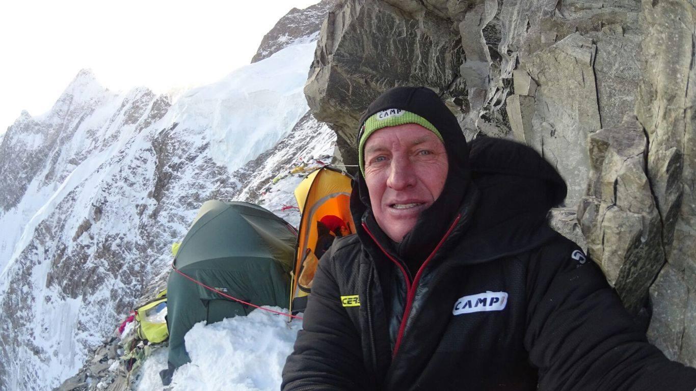 Denis Urubko a K2 Cesen-útján2018 telén Forrás: Denis Urubko archívum