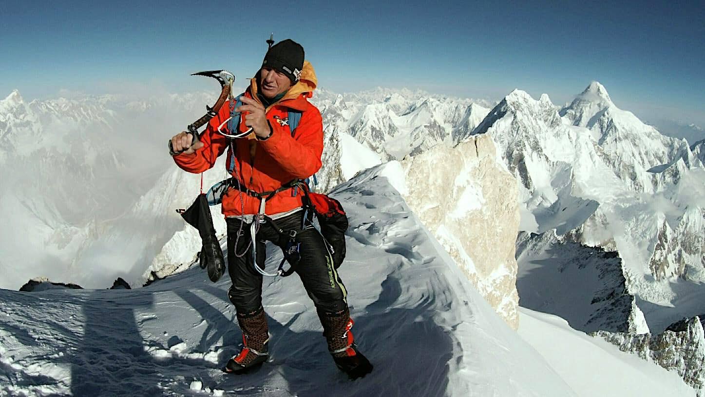 A Gasherbrum II csúcsán, még az akklimatizáció során Forrás: Denis Urubko archívum