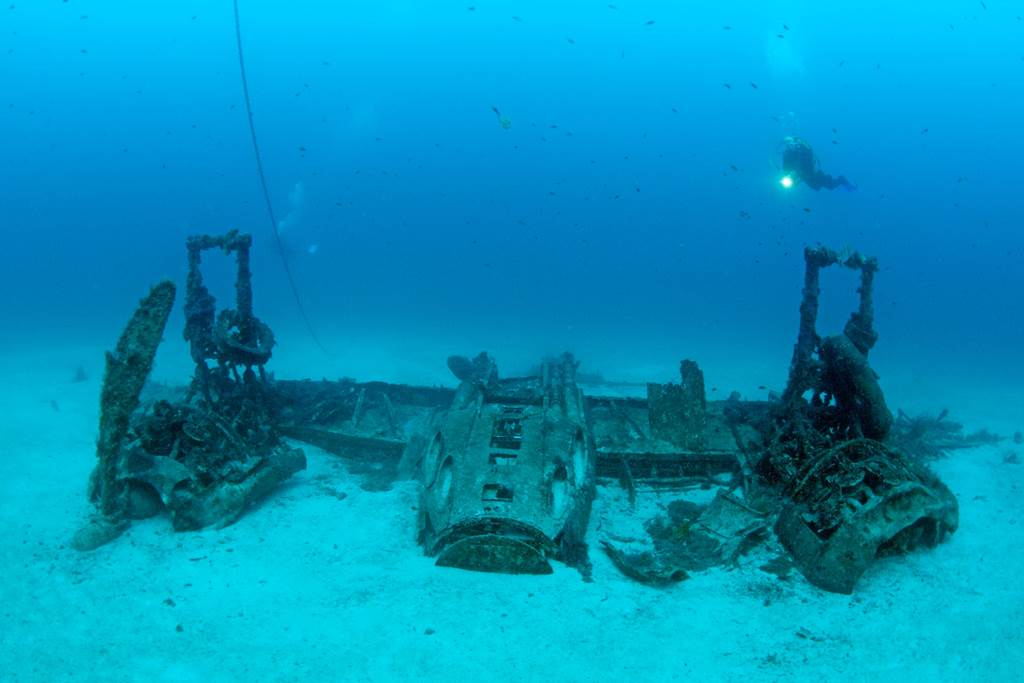 Repülő roncs a tenger mélyén Forrás: Máltai Idegenforgalmi Hivatal