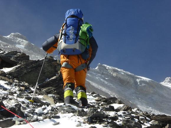 Ralf Dujmovits 8300 méteren az Everest északi normál útján Forrás: Ralf Dujmovits
