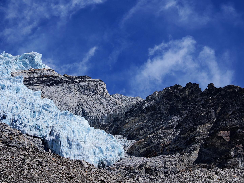 A jobb oldali hegyhát mögött vezet az út a gleccserhez Forrás: Mozgásvilág/Pintér László