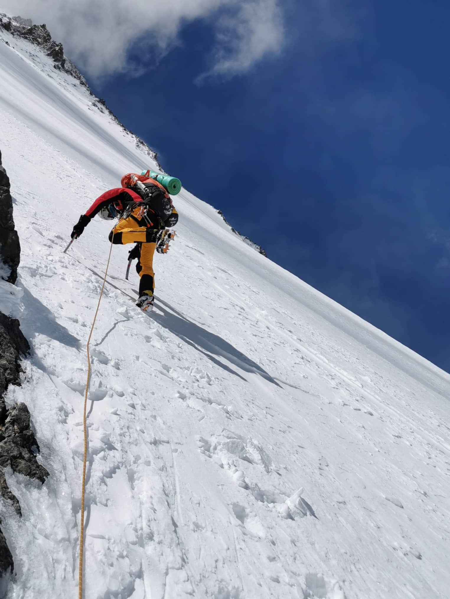 Suhajda Szilárd, örömmászás Forrás: Magyar K2 expedíció 2019