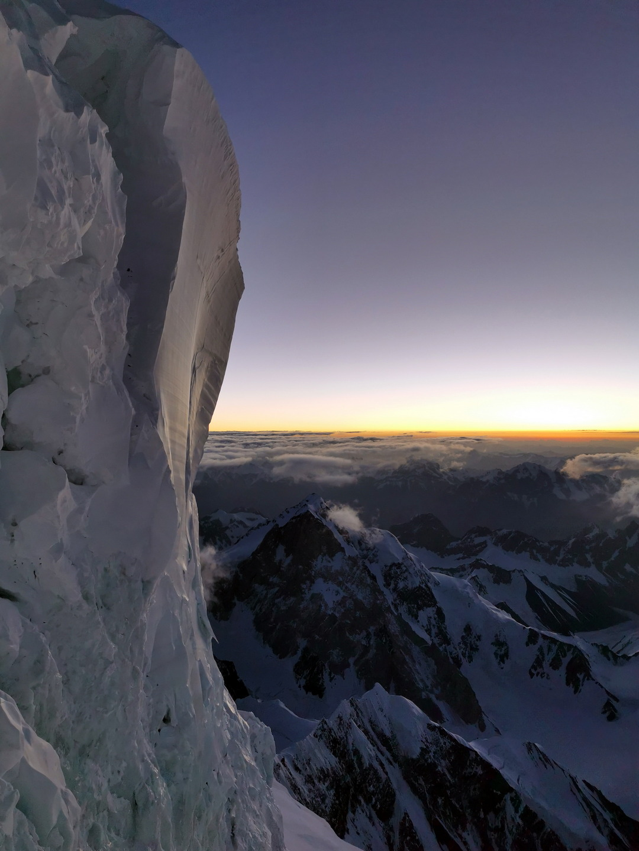 Napkelte előtt a Palacknyak-kuloárban Forrás: Eseményhorizont