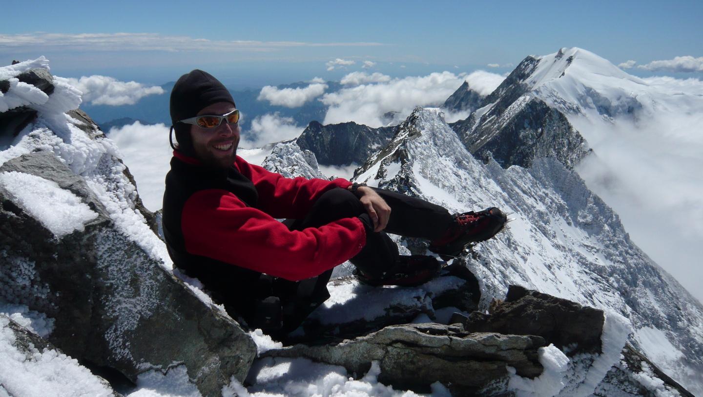 Egyedül a Lagginhorn csúcsán (2008) Forrás: Suhajda Szilárd