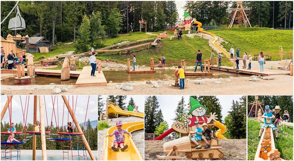 A vizi élménypark játékvilága Forrás: www.buergeralpe.at