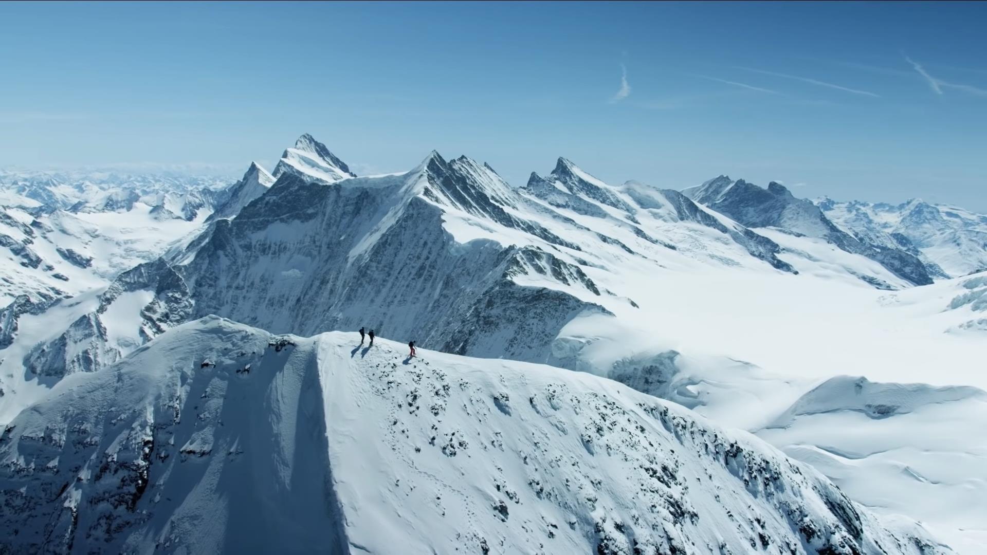 Az Eiger csúcsán Forrás: Screenshot