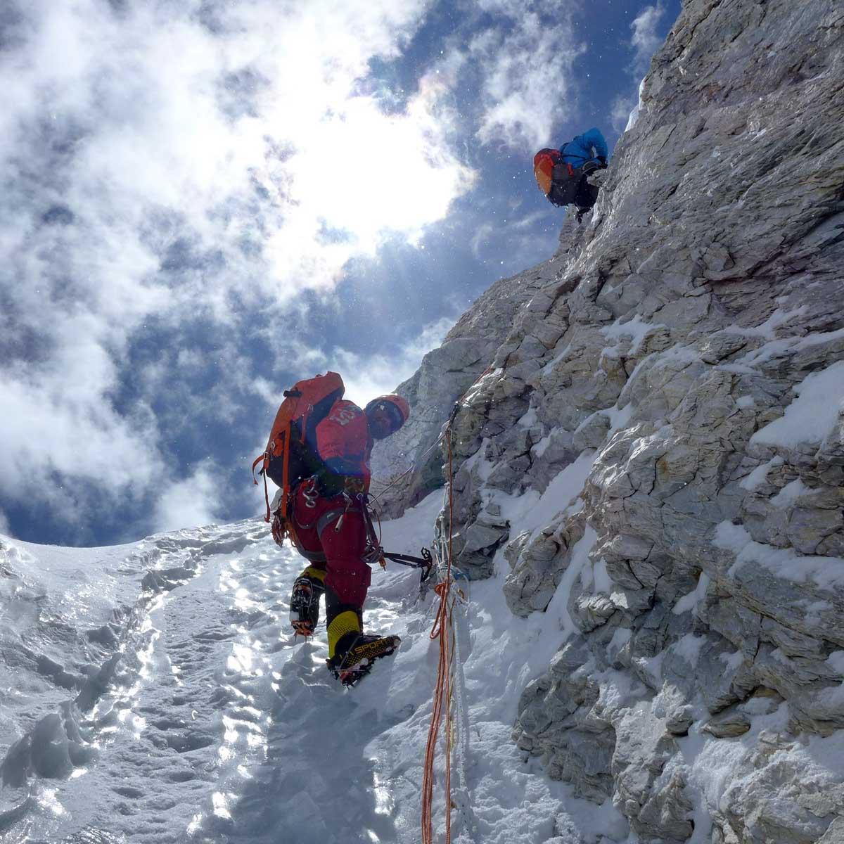 A Japán-kuloár a Hidden Peaken Forrás: Kalifa Himalája Expedíció 2018 - Gasherbrum I-II