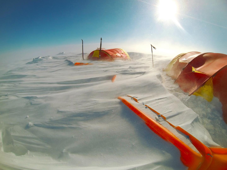 Átlagos kondíciók a jégsivatagban (Grönland) Forrás: Magyar Déli-sark Expedíció