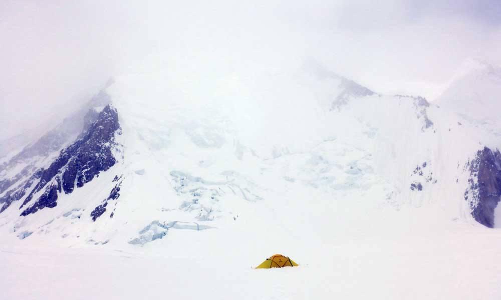 1-es tábor, Gasherbrum I Forrás: Kalifa Himalája Expedíció 2018 - Gasherbrum I-II