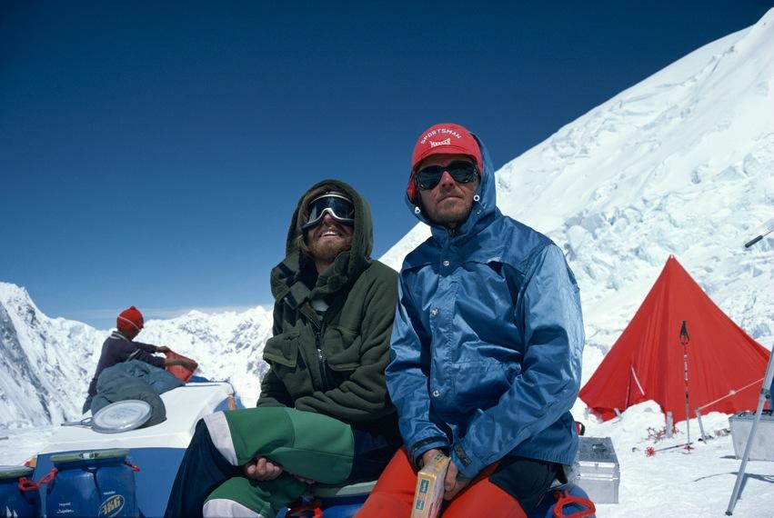 Messnerrel az Everest 2-es táborában Forrás: Peter Habeler archívum
