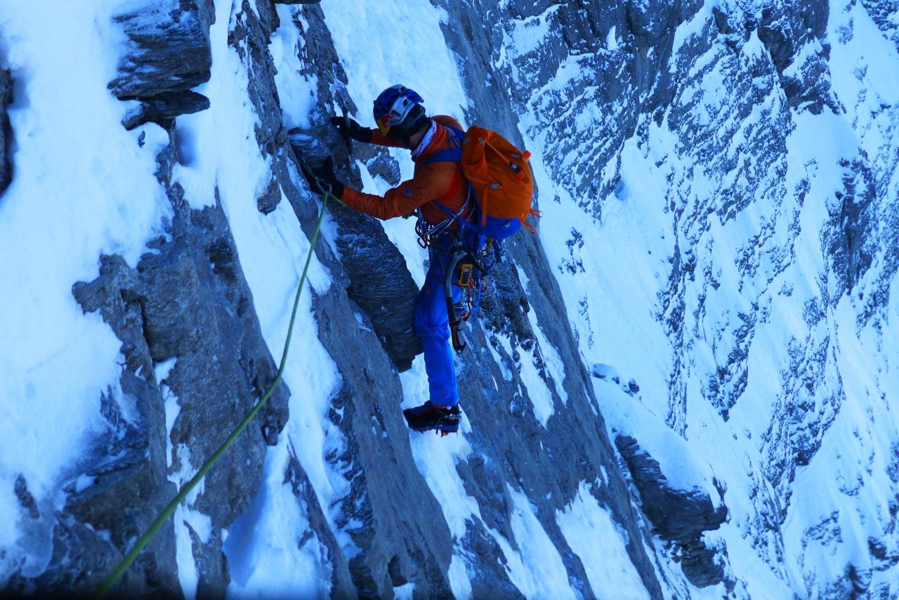 Az Eiger északi falán, 74 évesen Forrás: Peter Habeler archívum