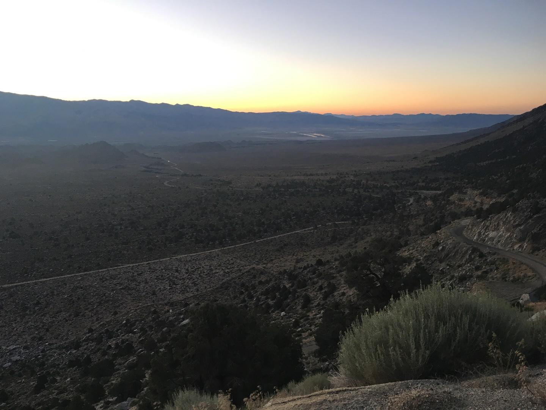 Halál-völgy naplemente