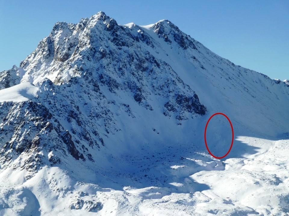 A Mount Imp, ahol a lavina történt Forrás: Gallatin National Forest Avalanche Center