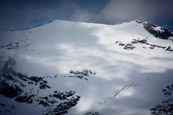 A Hocharn felső régiója nyári havazás után Forrás: Pintér László