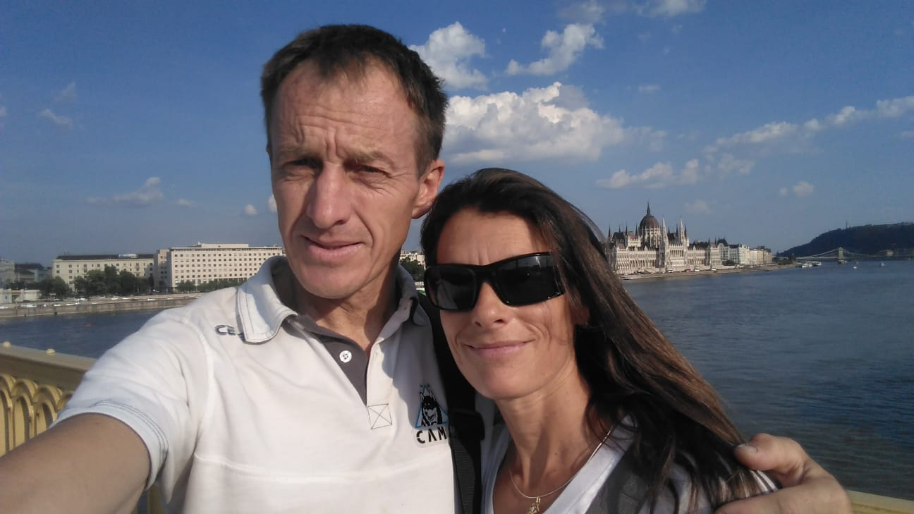 Denis és Maria Budapesten Forrás: Denis Urubko archívum