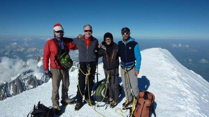 Jean-Marc Peillex maga is többször járt a Mont Blanc csúcsán Forrás: Facebook/Jean-Marc Peillex