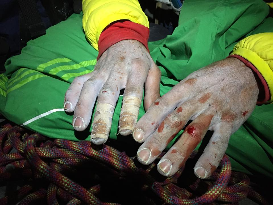 Jorgeson ujjai - küzdelem a 15. hosszért Forrás: Kevin Jorgeson Facebook
