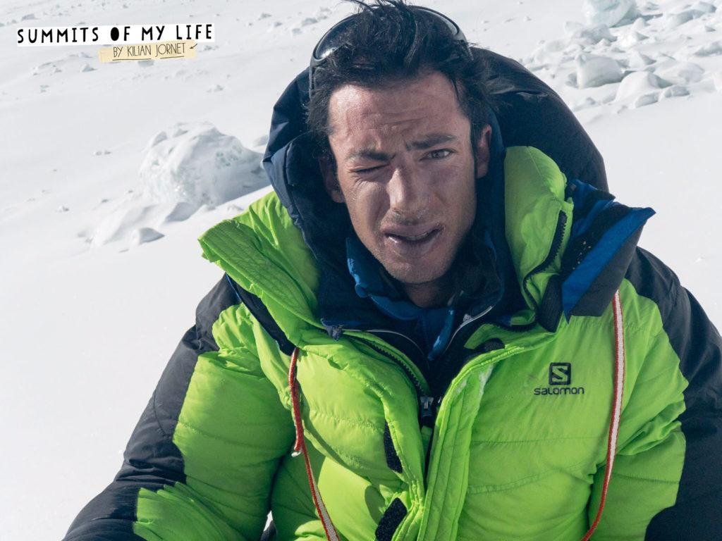 Kilian Jornet az Everest előretolt alaptáborában Forrás: Summits of My Life Facebook