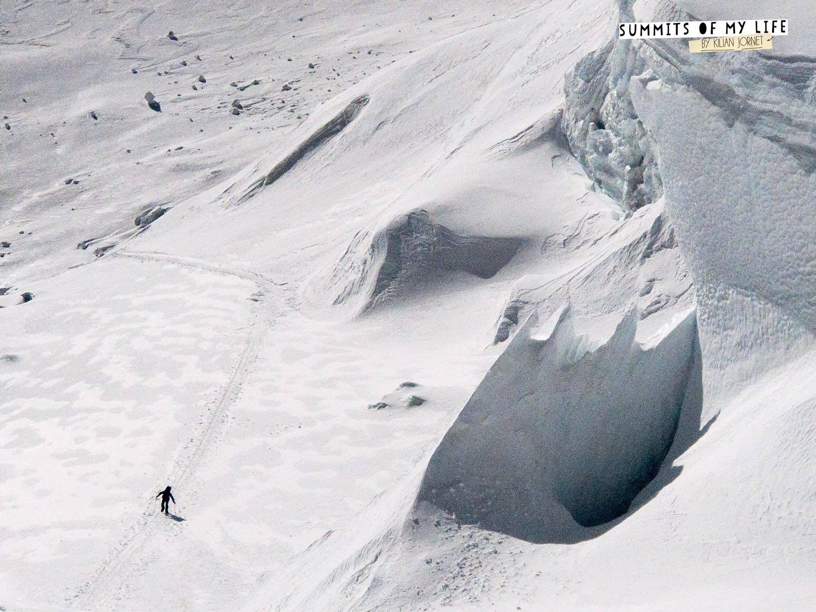 Kilian az Északi-nyereg felé haladva Forrás: Summits of My Life Facebook/Seb Montaz Studio