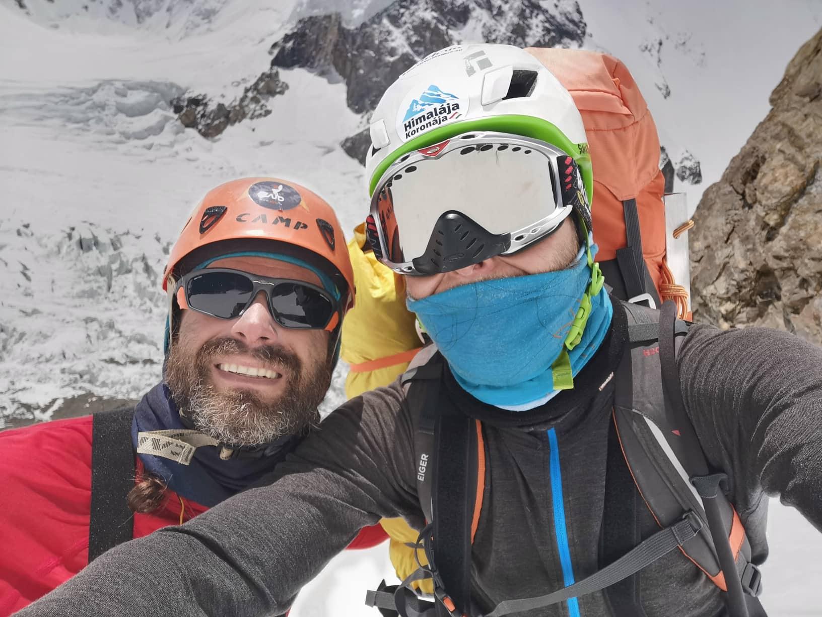 Klein Dávid és Suhajda Szilárd Forrás: Magyar K2 Expedíció