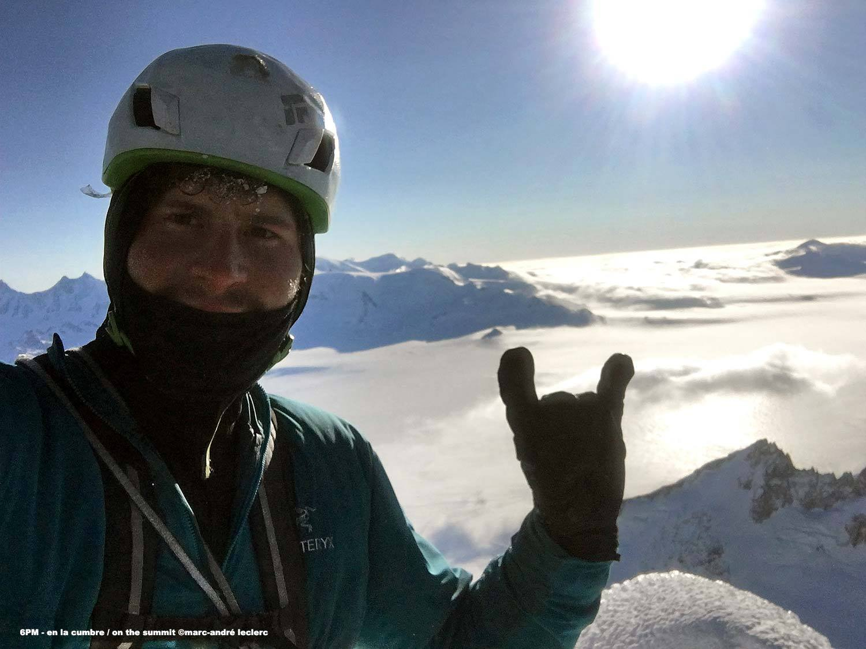 Marc Andre Leclerc a Torre Egger csúcsán Forrás: Patagonia Vertical/Marc Andre Leclerc