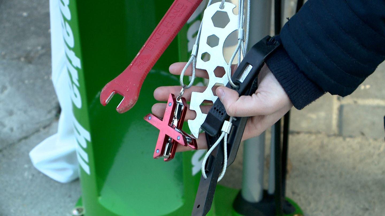 Kerékpáros szervizpont átadása a Szalajkánál Forrás: Gyöngyös-Mátra Turisztikai Közhasznú Egyesület