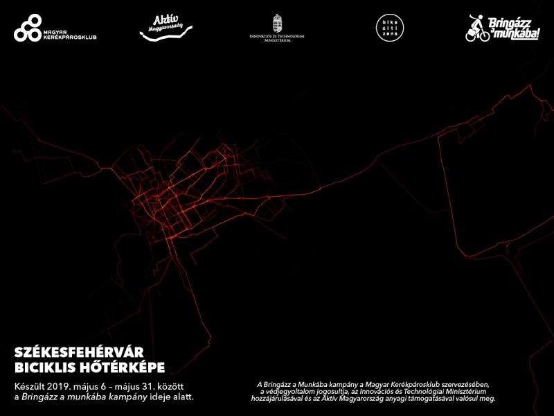 Szeged hőtérképe Forrás: Magyar Kerékpárosklub