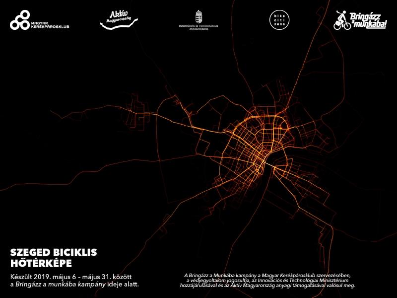 Győr hőtérképe Forrás: Magyar Kerékpárosklub