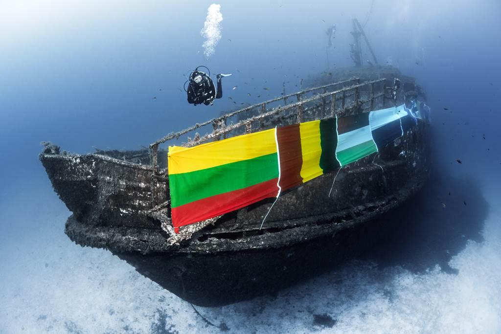 A fellobogózott Karwela hajóroncs Forrás: (c) Credit Golden Klisch