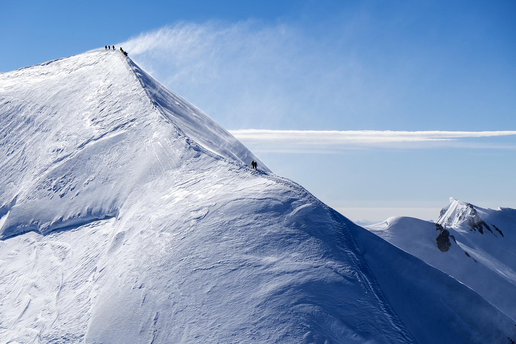 Egy csendes nap a Mont Blanc-on Forrás: Facebook/La Chamoniarde