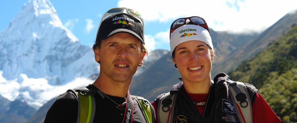 Simone Moro és Tamara Lunger a Manaszlun Forrás: Simone Moto Facebook