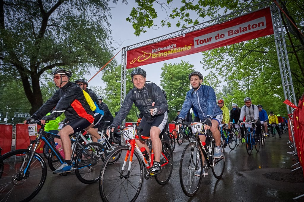 BringaMánia Tour de Balaton 206 km rajt Forrás: Olimpiai Ötpróba