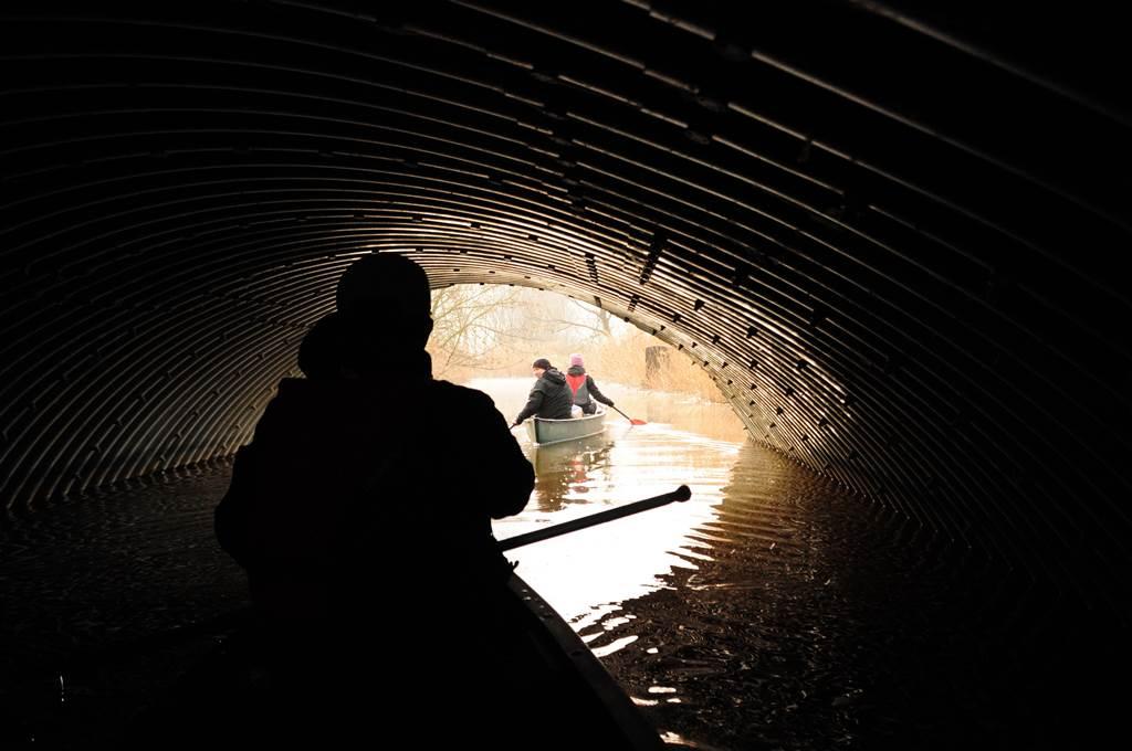 Boltíves alagút a Hévízi-patak felett Forrás: (c) Paraferee