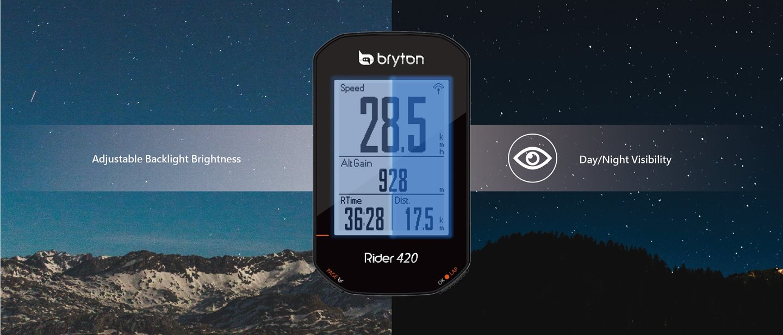 Állítható háttérvilágítás / nappai és éjszakai láthatóság Forrás: www.brytonsport.com