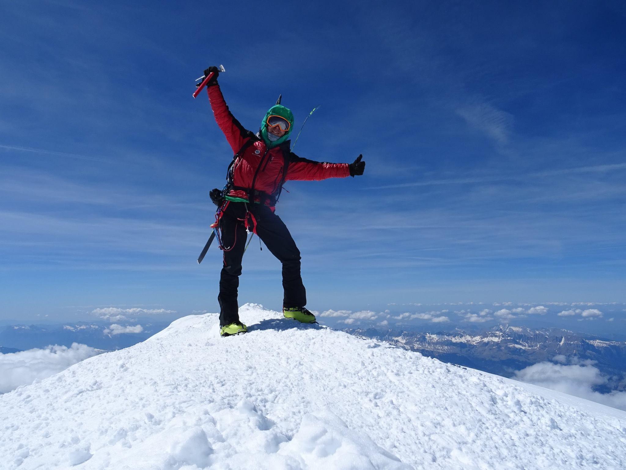 Márk a Mont Blanc csúcsán Forrás: Salamon Márk Facebook
