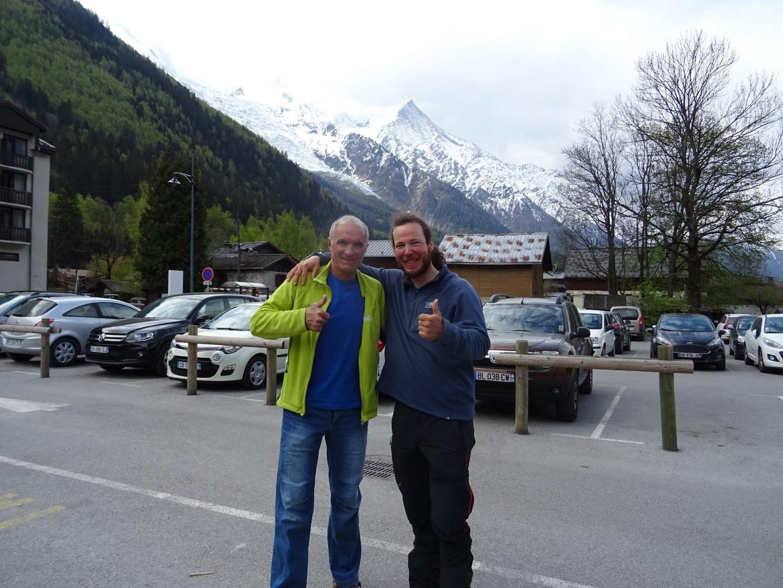A legendával, Christophe Profit-val Chamonix-ban Forrás: Salamon Márk Facebook