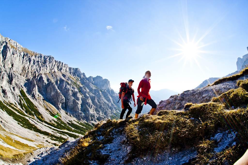 Túrázás közben valahol a Hochschwabon Forrás: Steiermark Tourismus (c) Tom Lamm.cc
