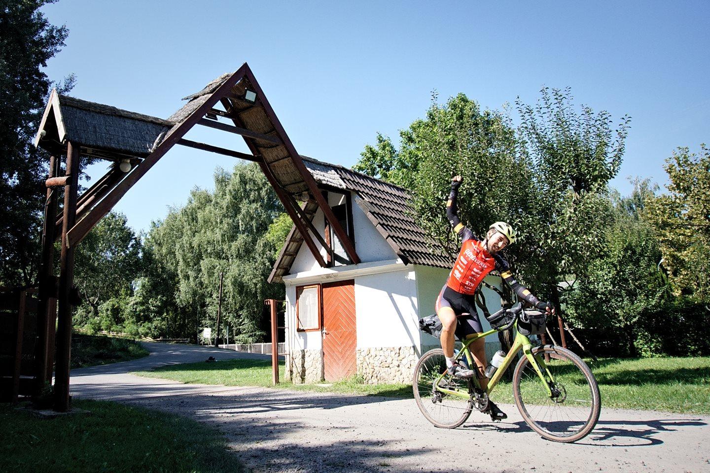 Az első beérkező a célban, Tokajban Forrás: (c) Domaniczky Tivadar 5Peaks500