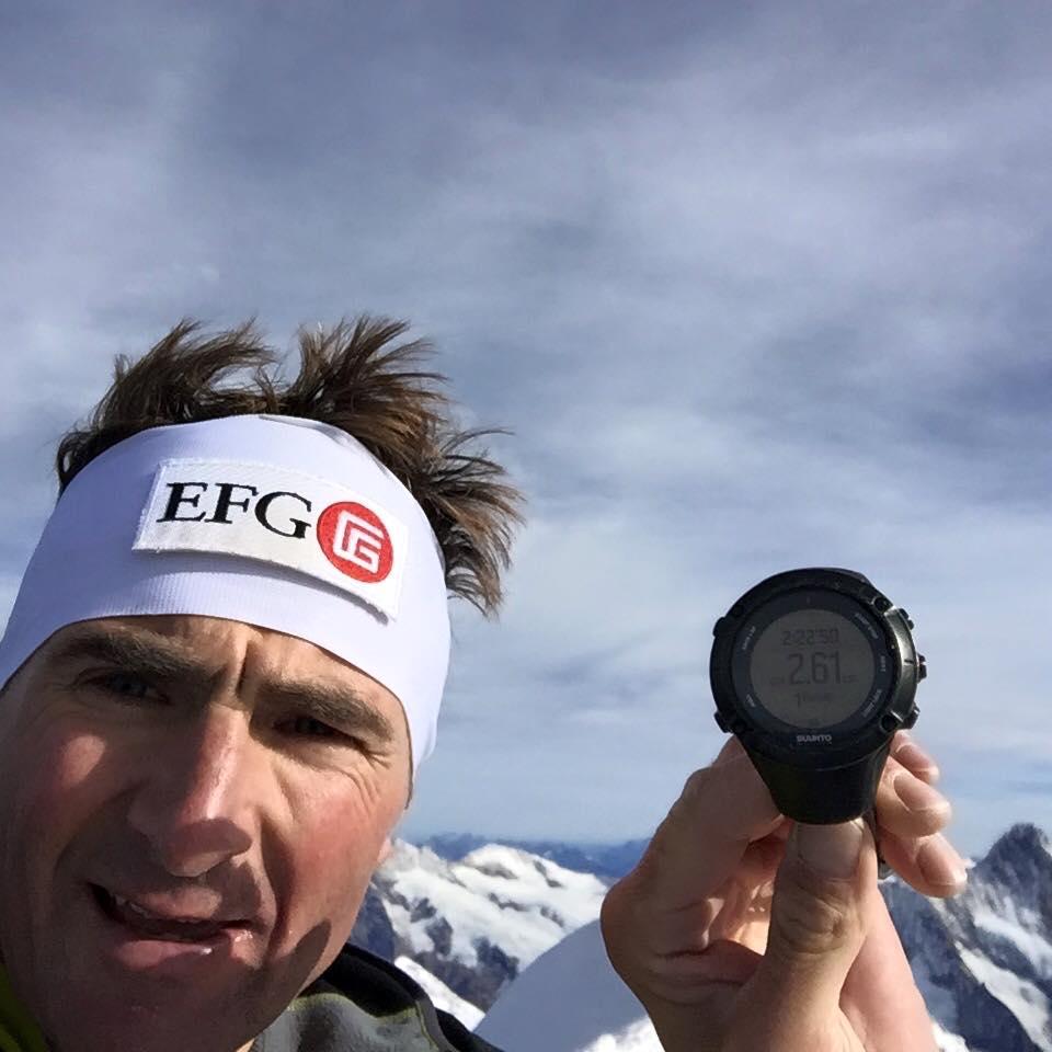 Ueli Steck, Eiger északi fal 2 óra 23 perc Forrás: Ueli Steck Facebook