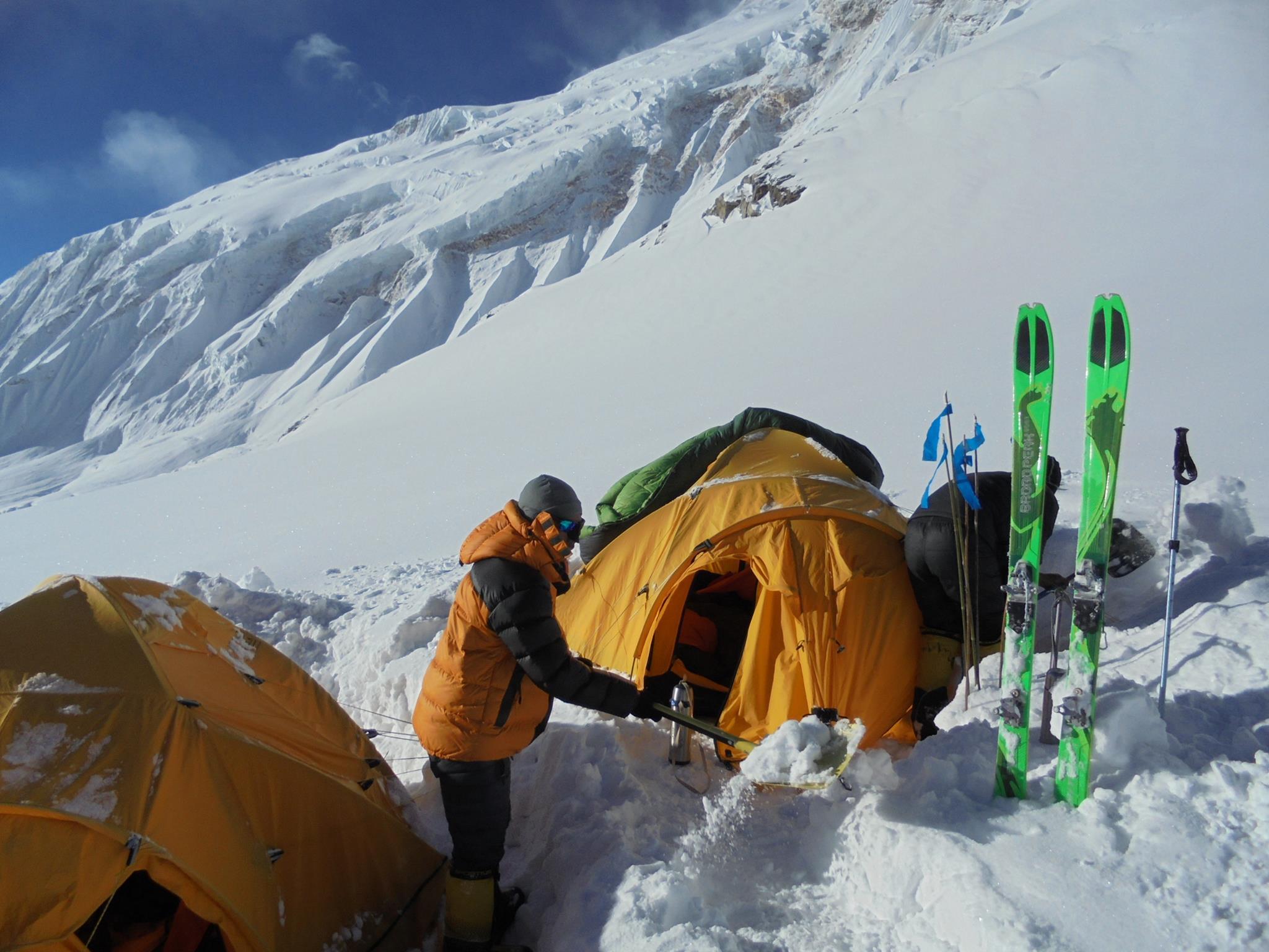 Egyes tábor, 5500 m, Manaszlu Forrás: Wetzl Péter