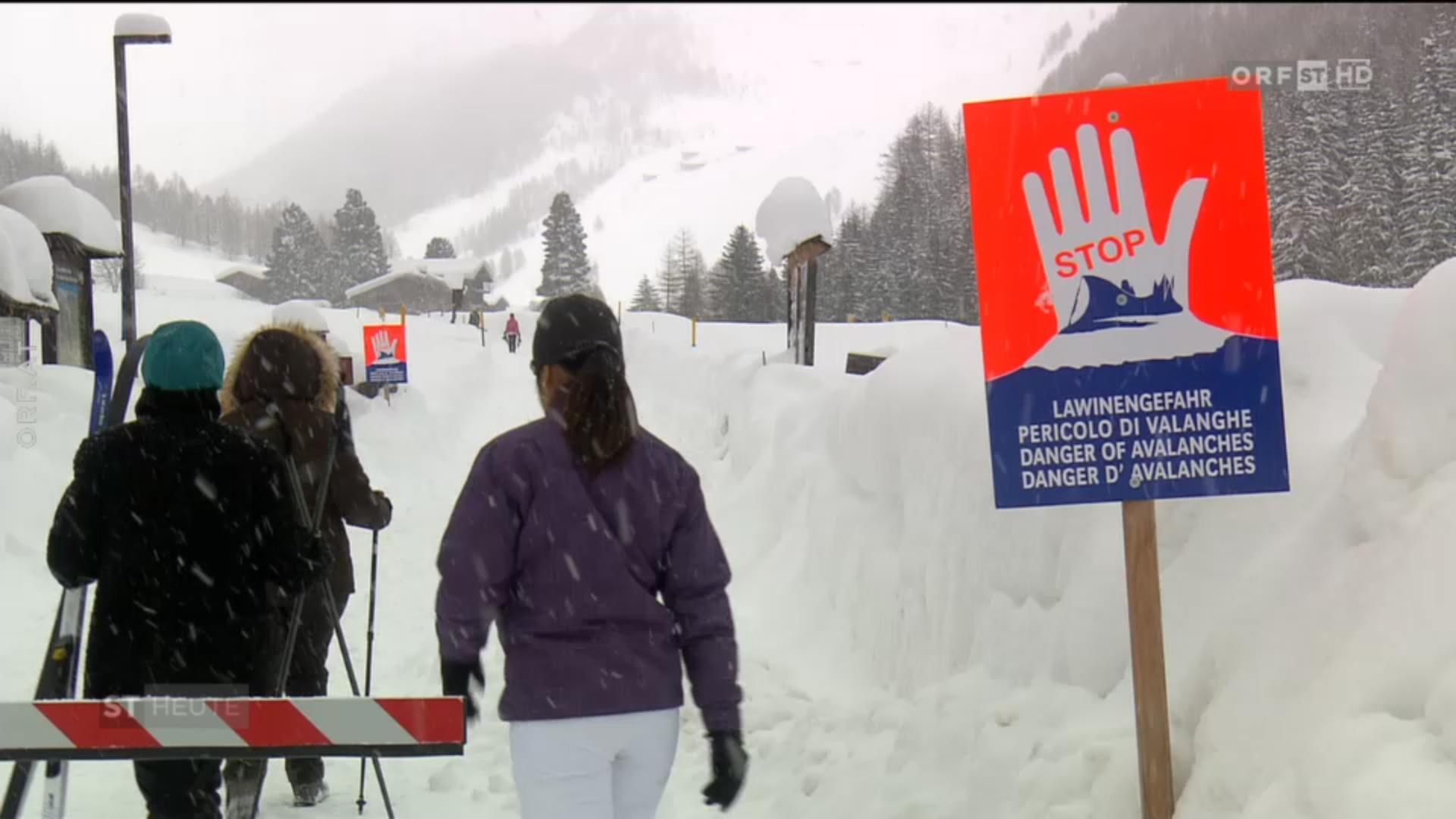 Ahrntal, Dél-Tirol. Ők nem értik a táblát. Forrás: Orf screenshot