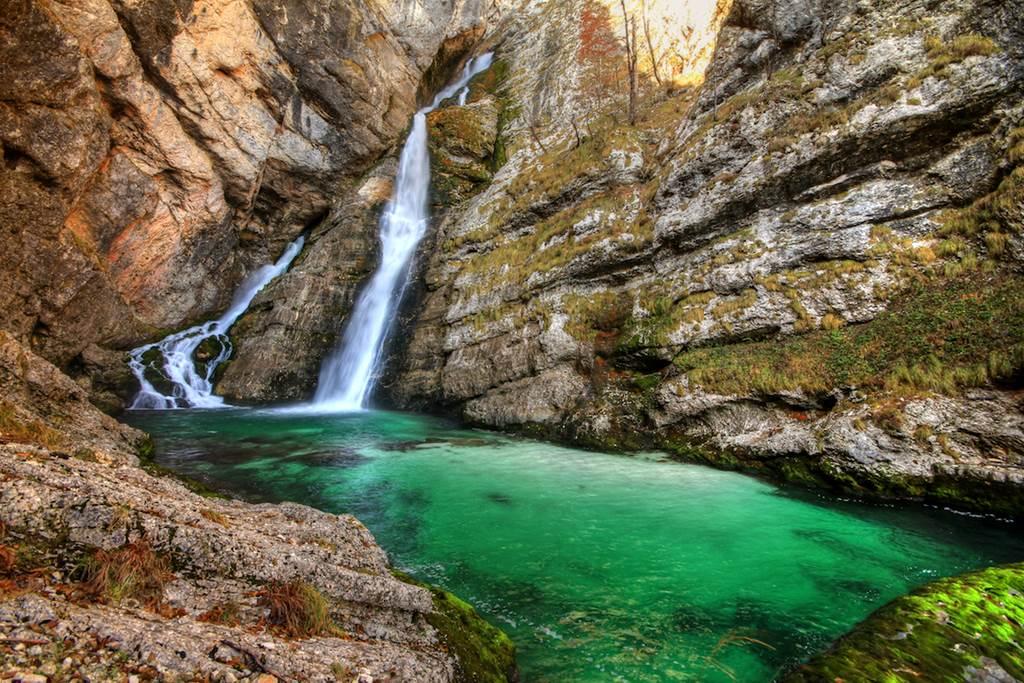 Savica vízesés Forrás: Hike & Bike