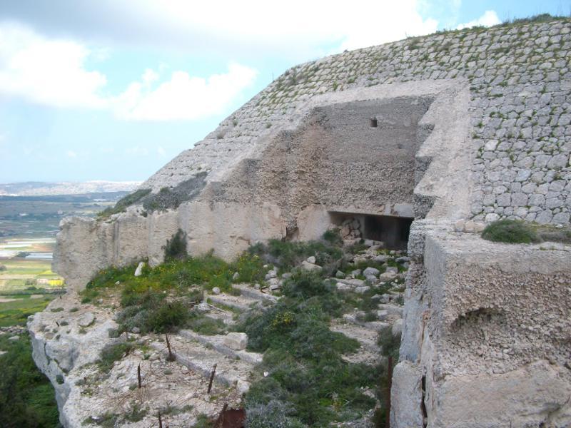 A Bingemma erőd Forrás: Victoria Lines Malta