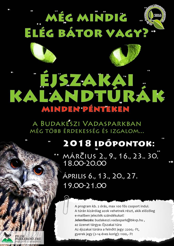 Éjszakai Kalandtúrák Forrás: www.vadaspark-budakeszi.hu