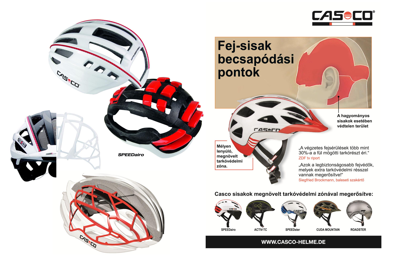 Casco fejvédő technológiák Forrás: Casco